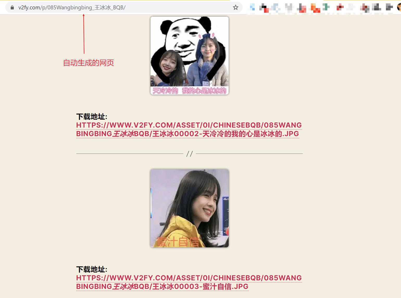 自动生成的网页